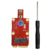 Mini-PCIe to M.2 (NGFF) Key B 4G 5G Modem Adapter with Dual SIM Slot LTEFIX
